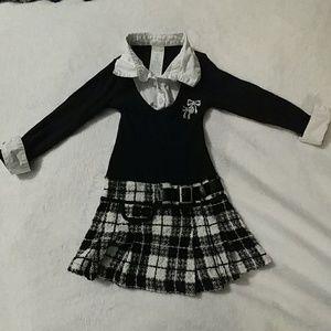 Other - Size 3t girls preppy shirt & skirt combo dress
